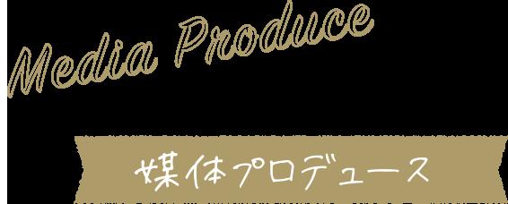 媒体プロデュース