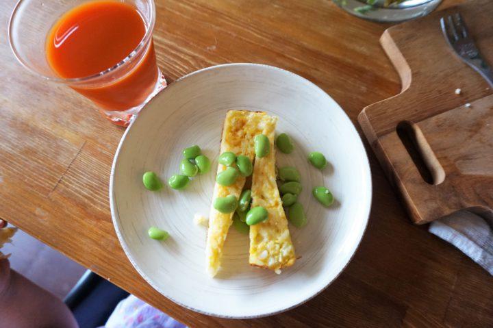 卵焼きご飯、幼児食用