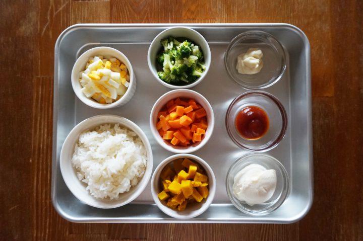 サラダご飯作り方材料