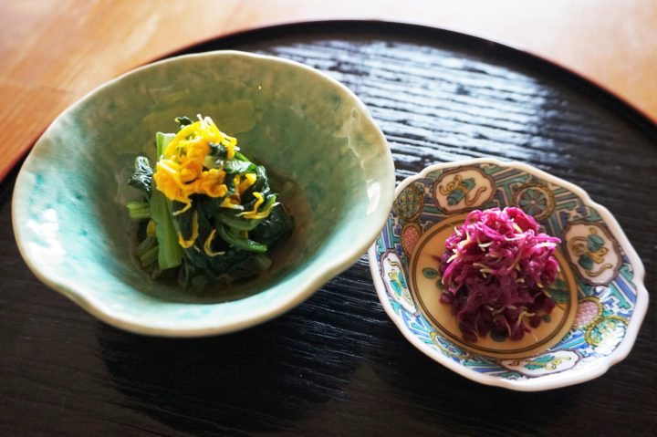 食用菊おひたし