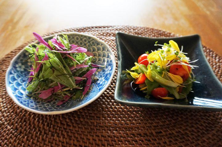 食用菊のサラダ