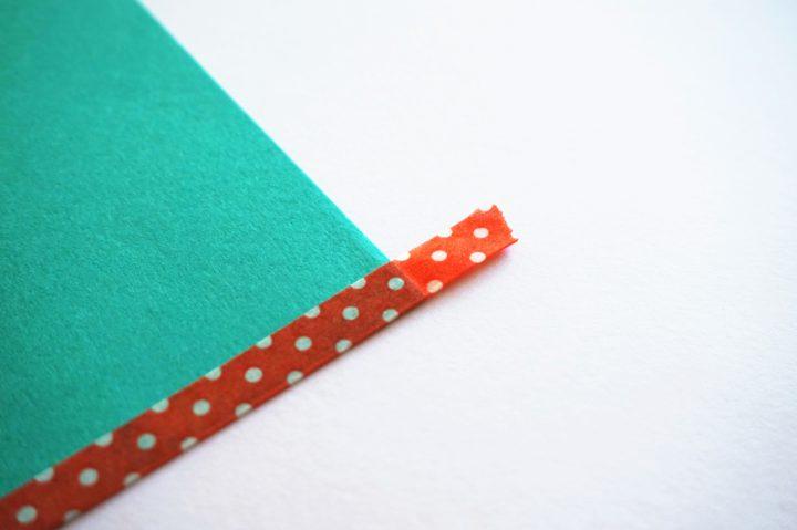 画用紙ランチョンマット作り方1
