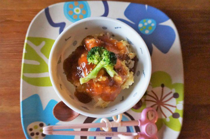 白菜の幼児食天津飯