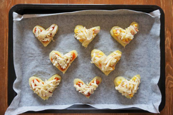 ハートポテトピザ作り方4
