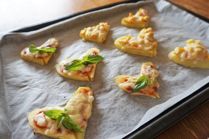 ハートポテトピザ作り方5