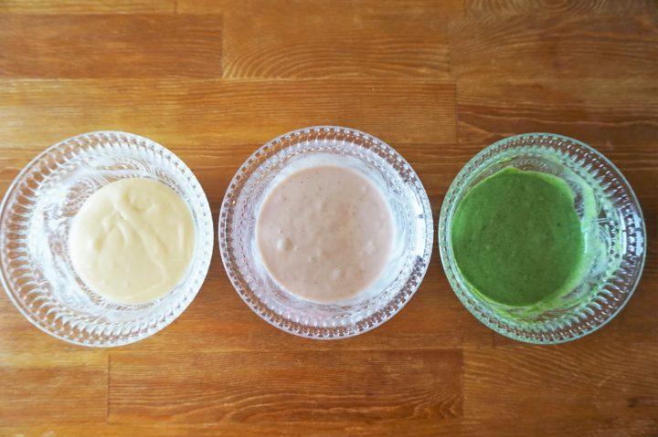 菱餅風パンケーキ作り方3