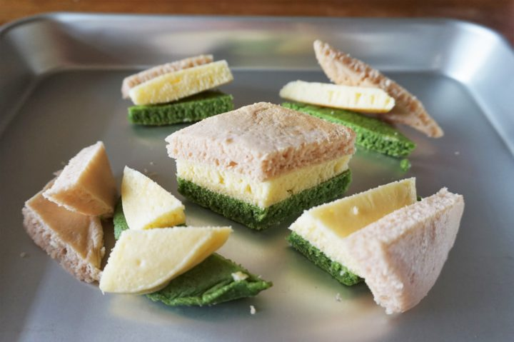 菱餅風パンケーキ作り方6