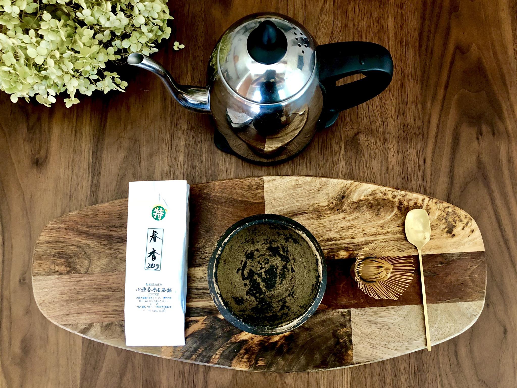 抹茶の材料