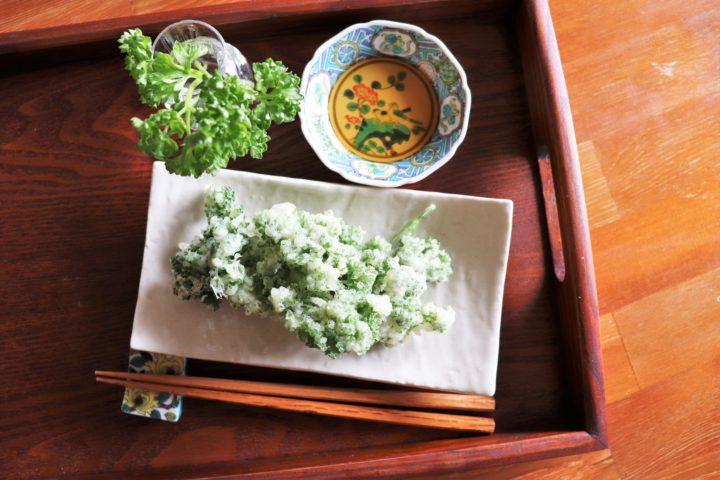 パセリの天ぷら1