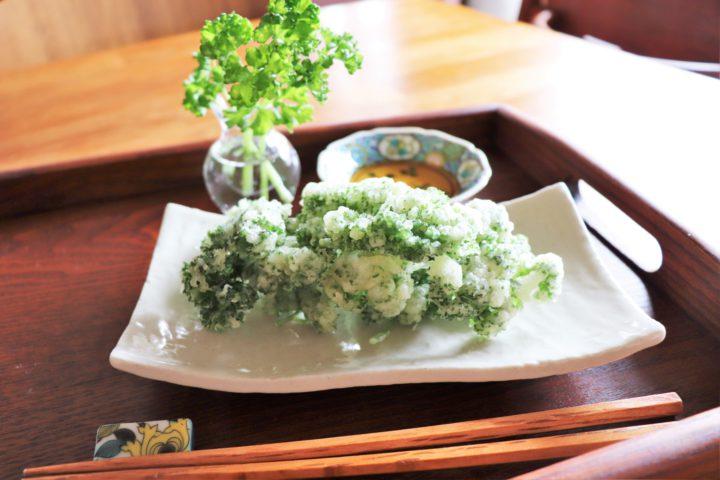 パセリの天ぷら2