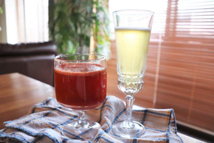 ビアカクテルトマトジュースとレモン割り