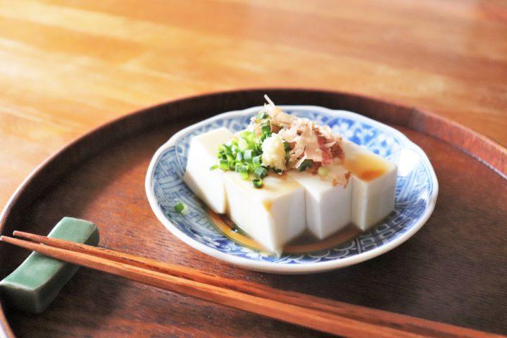 豆腐の盛り付け方スタンダード
